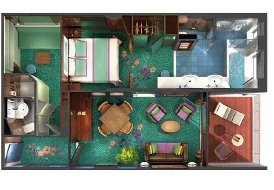 Norwegian-Jade---Rooms---2-Bedroom-Family-Suite---Plan