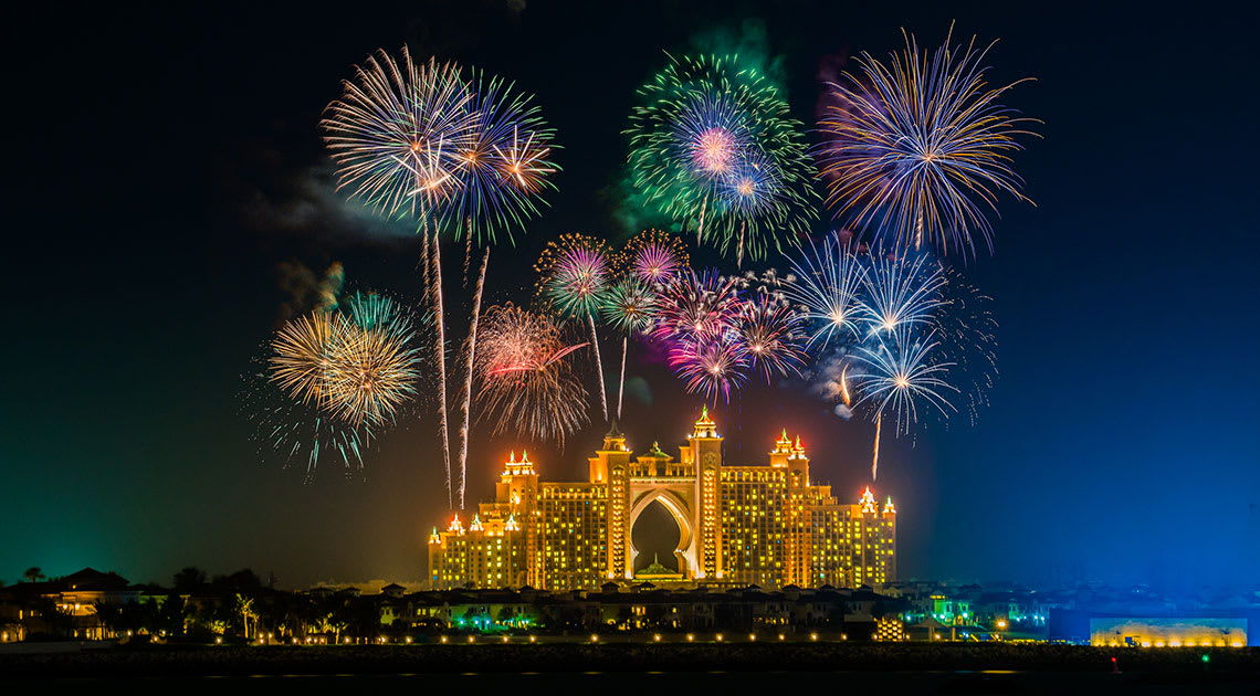 Atlantis The Palm fireworks