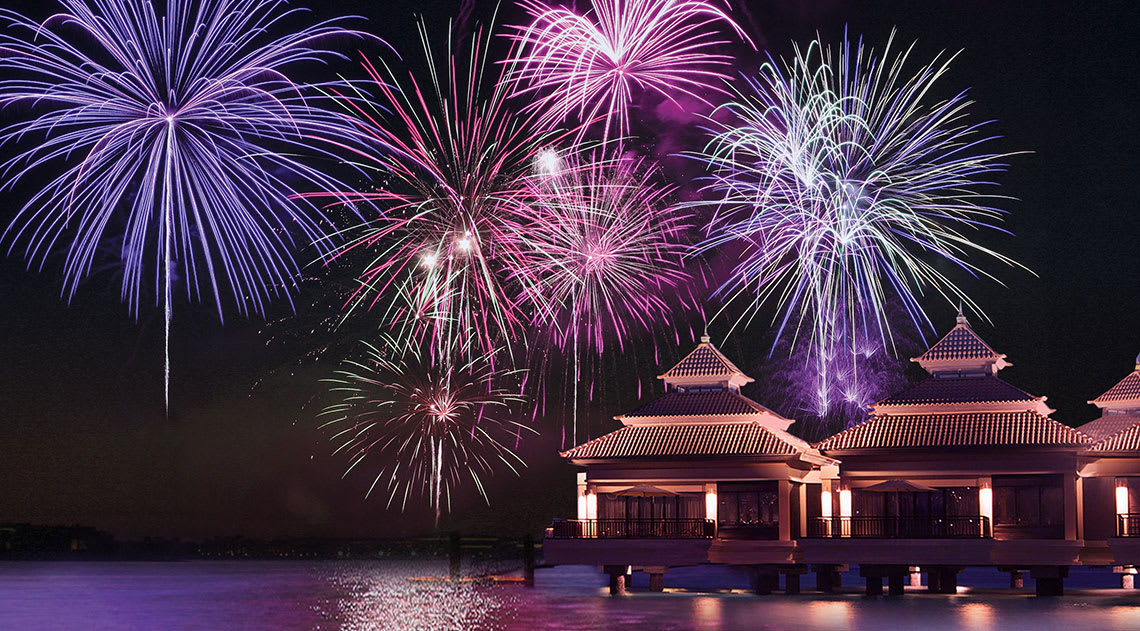 Anantara the Palm firework celebration