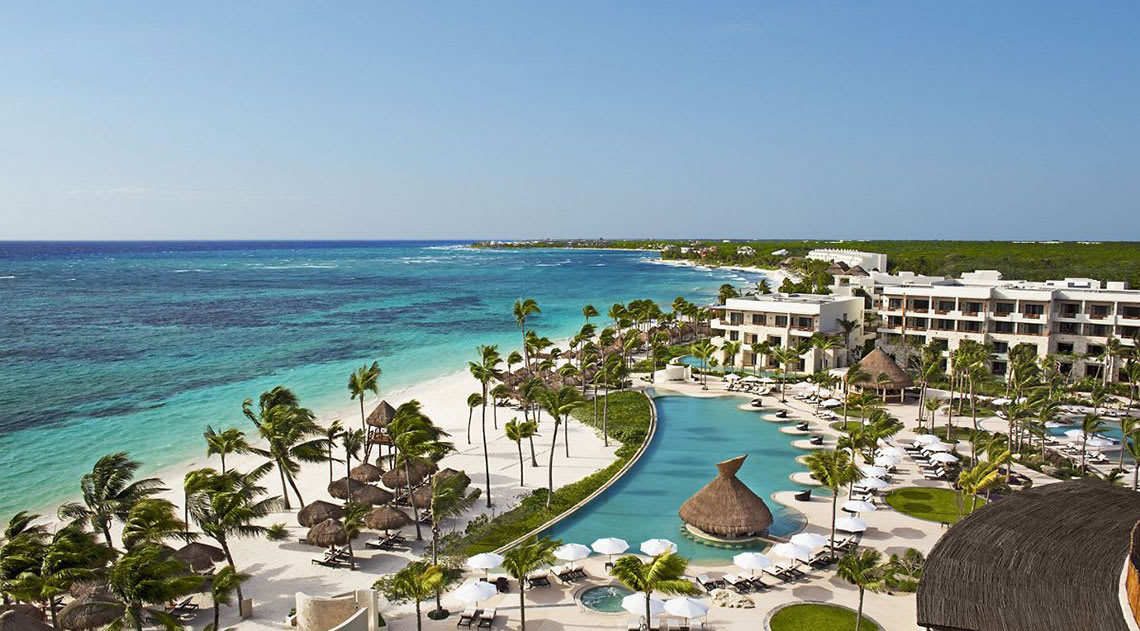 Aerial view of Secrets Akumel Riviera Cancun