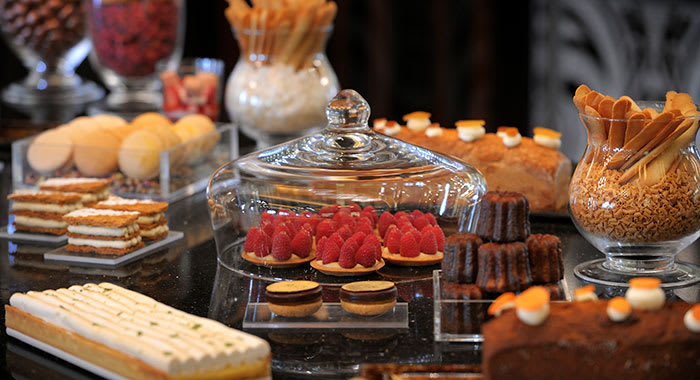 Pastry library with lots of cakes and deserts