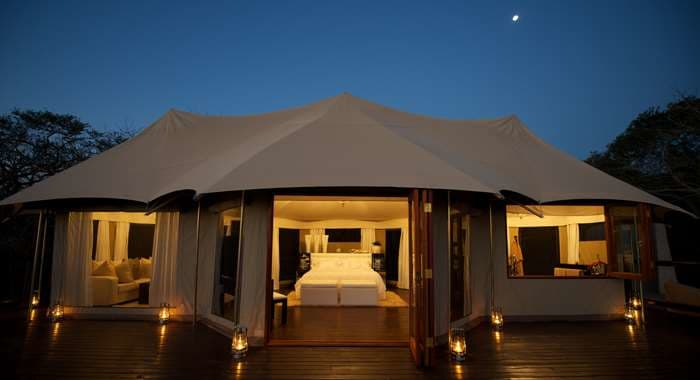 Honeymoon tent exterior