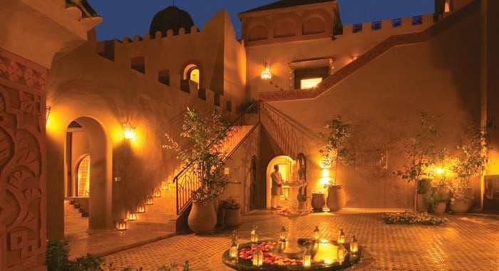Kasbah Tamadot Courtyard