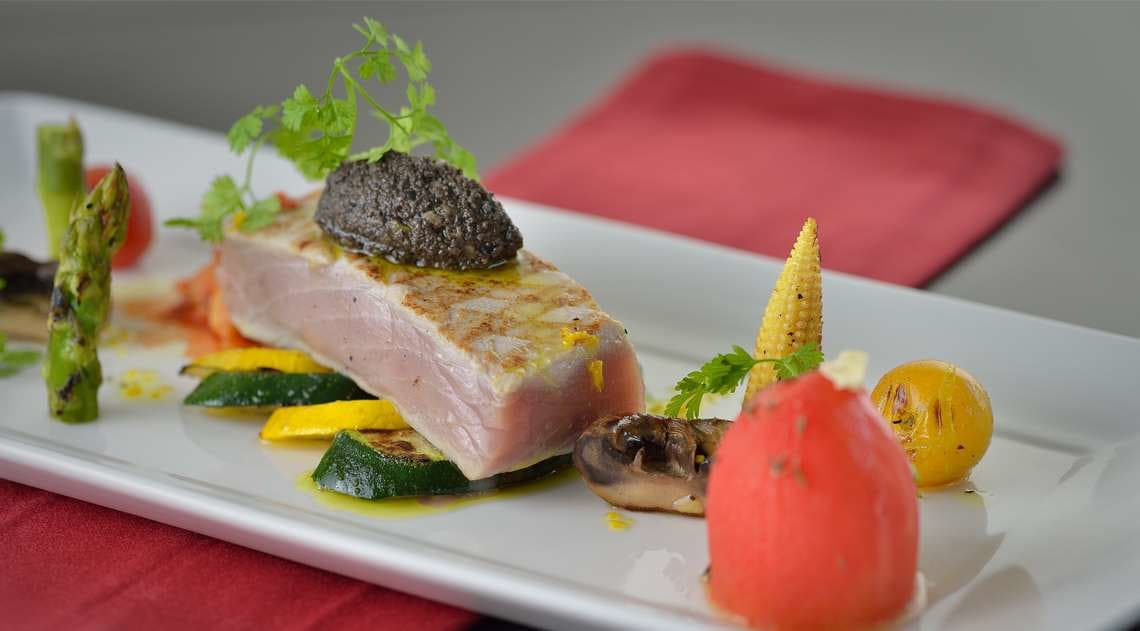 Seared Yellow Tuna Dish