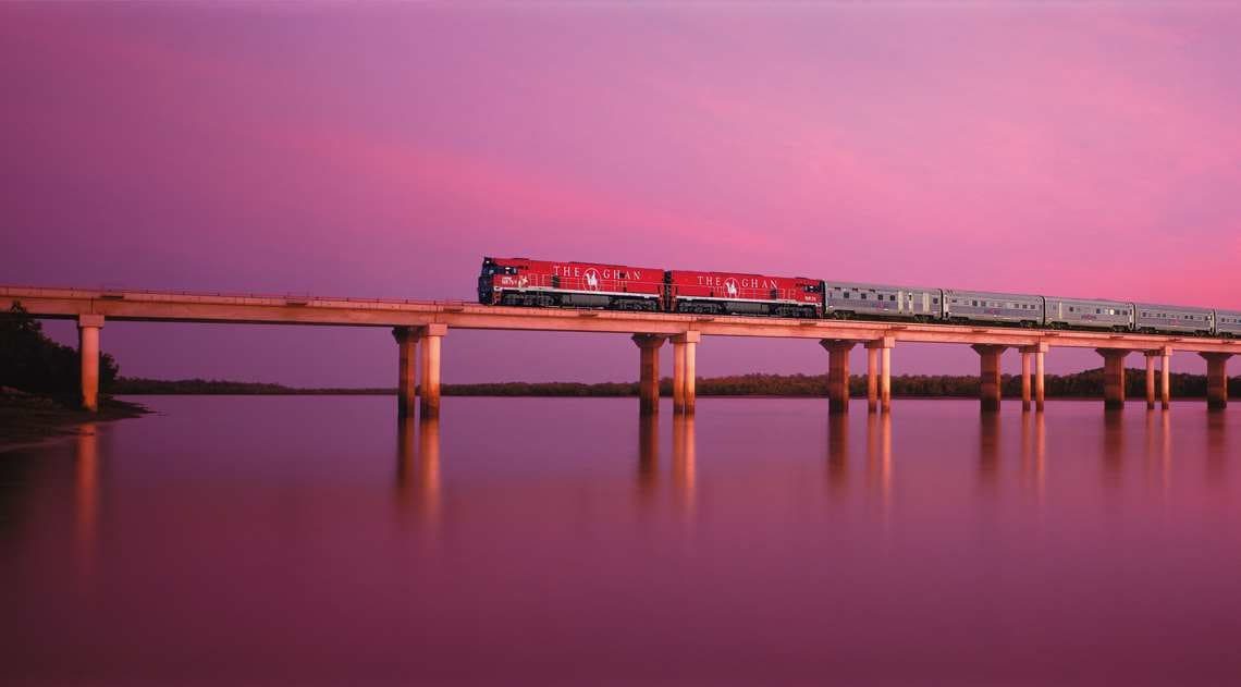 The Ghan Expedition at dusk