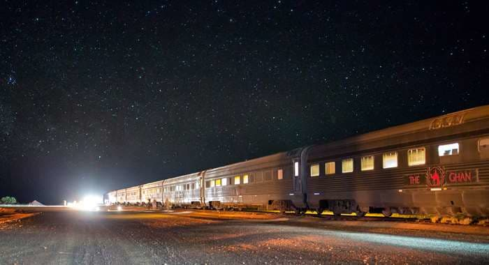 The Ghan Expedition at nighttime