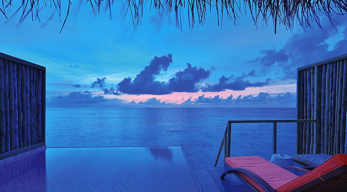 Sunset view Maldives