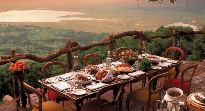 safari dinner with view