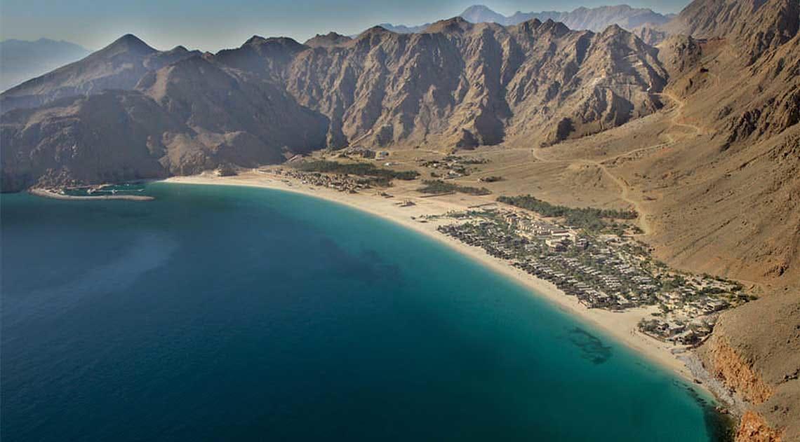 Six Senses Zighy Bay Aerial View