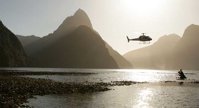 Fiordland view in helicopter