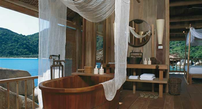 Six Senses Ninh Van Bay Rock Villa Bathroom