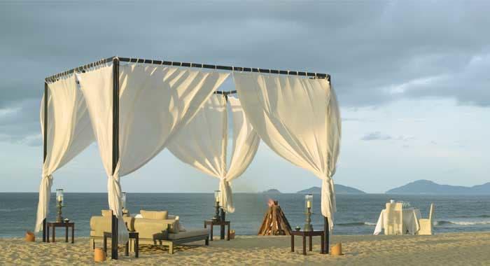 The Nam Hai romantic dinner on beach