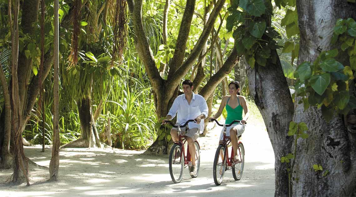 Cycling around the resort