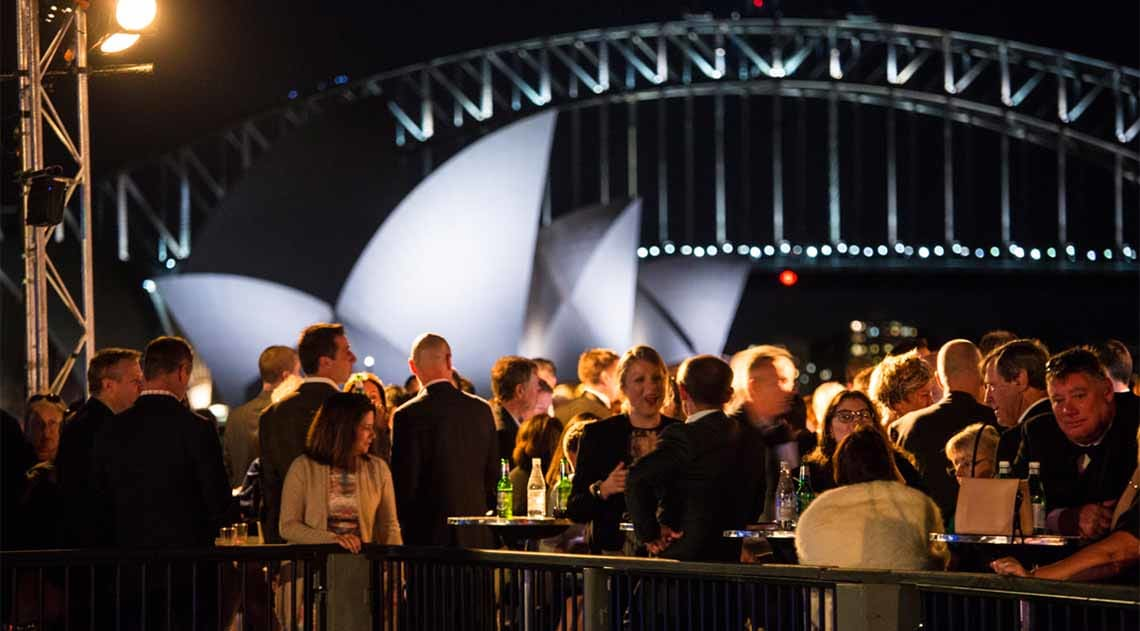 Open-air dining at Opera on Sydney Harbour