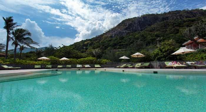 Main swimming pool at Six Senses Con Dao