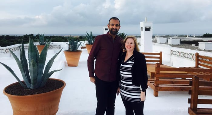 Faisal and Melissa in Puglia