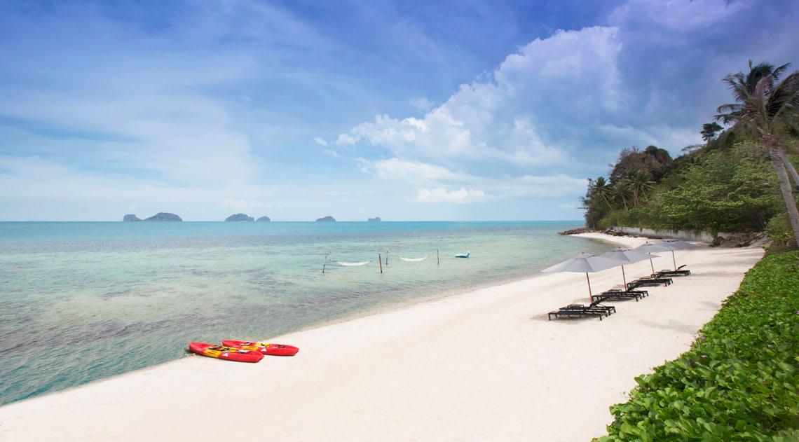 Beach at Conrad Koh Samui