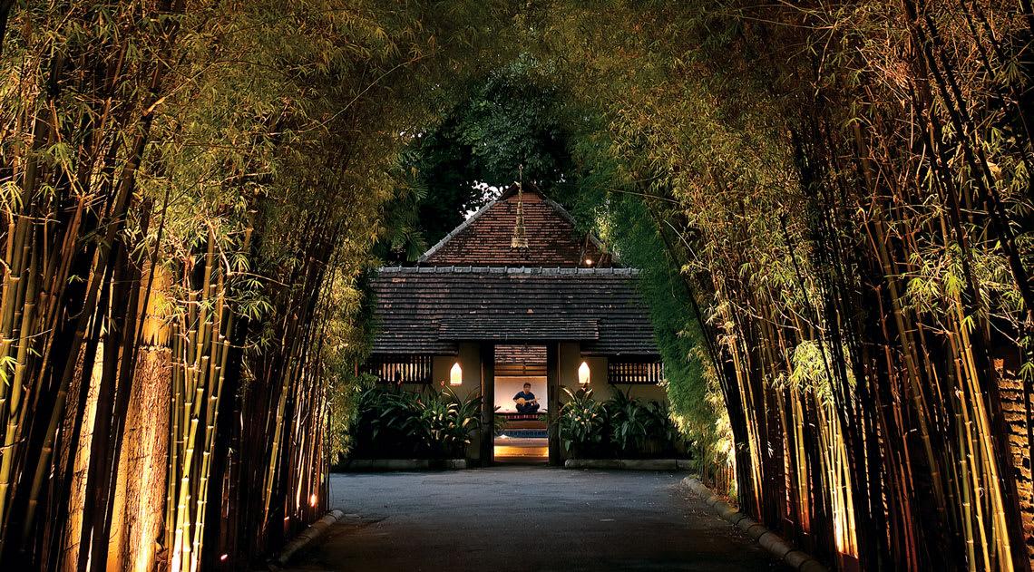 Bamboo entrance at Tamarind Village