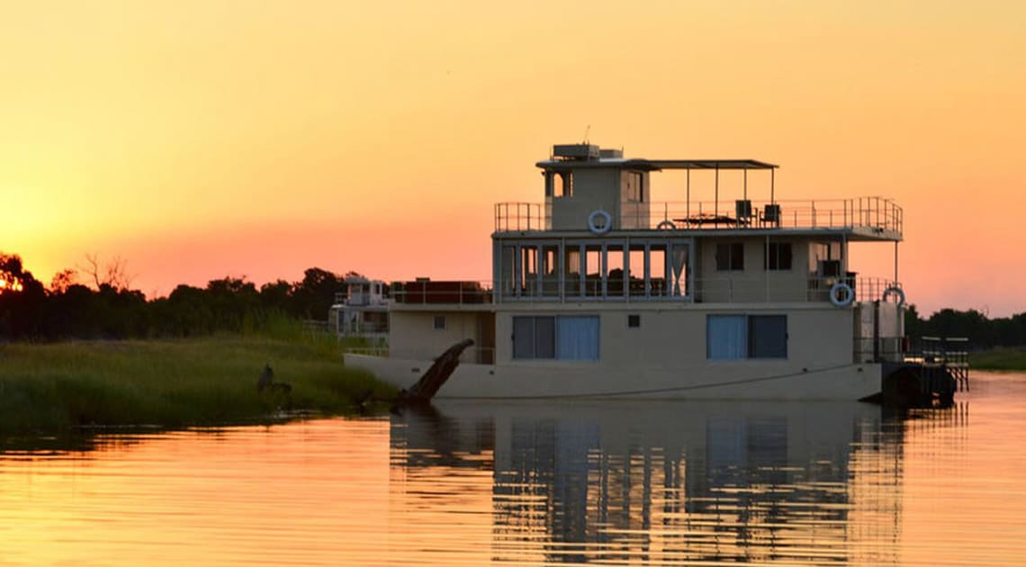 Chobe Princess at sunset