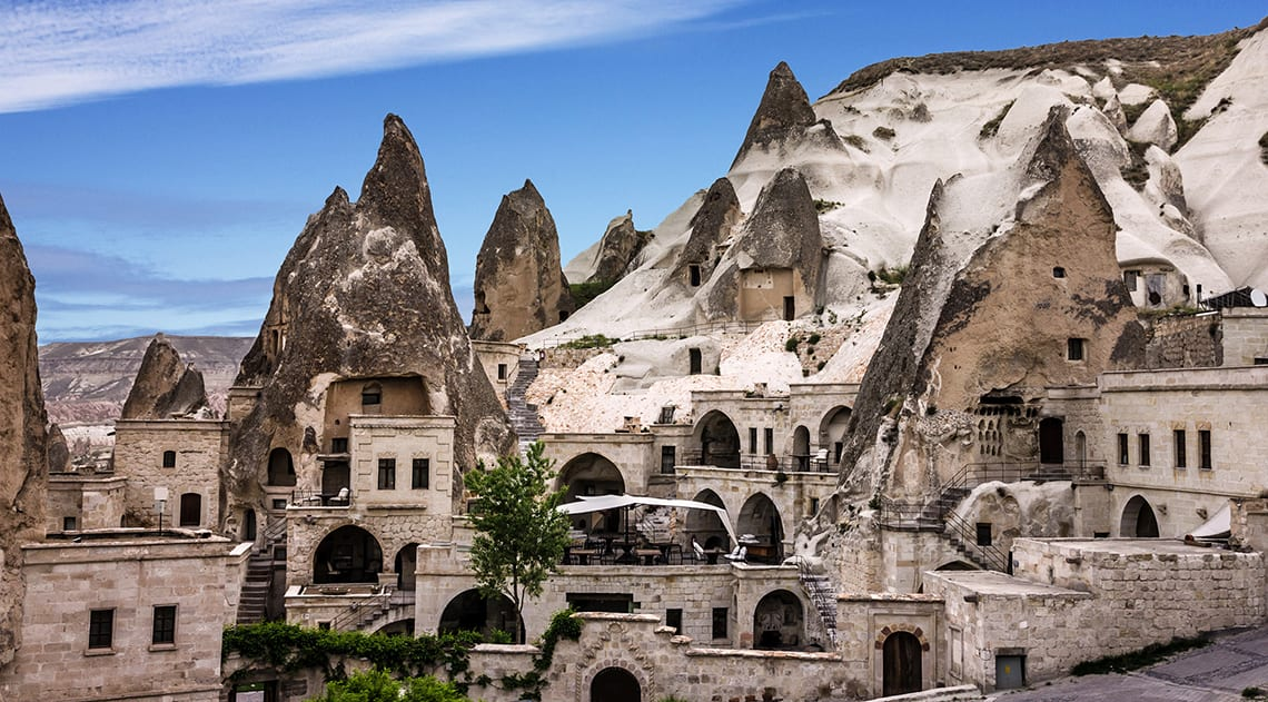 Carved out houses, tunnels, ladders and churches