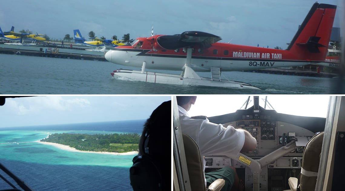 Seaplane to Kuredu and pilot