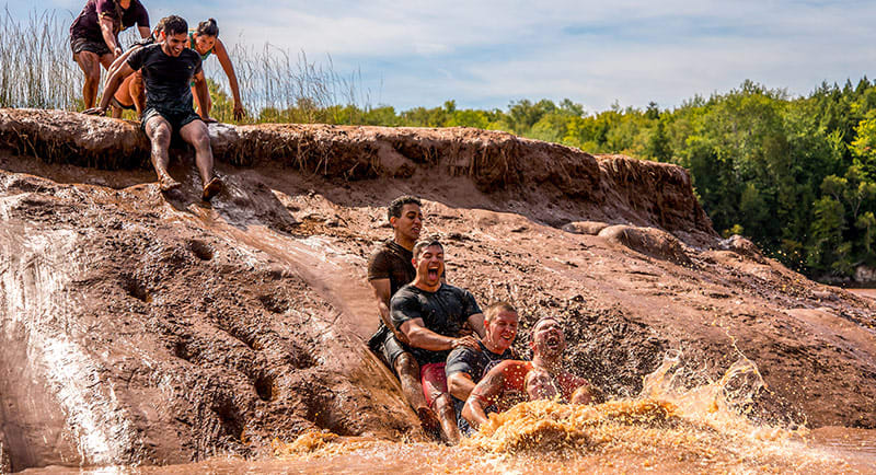 Mud sliding Nova Scotia