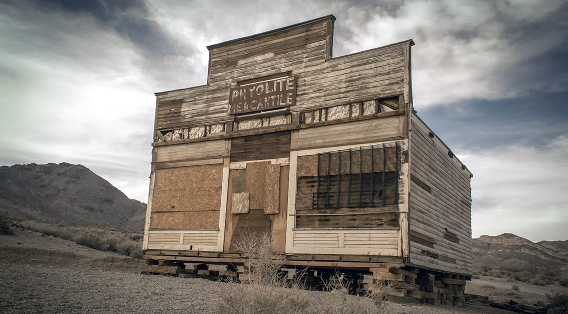 Rhyolite abandoned ghost town