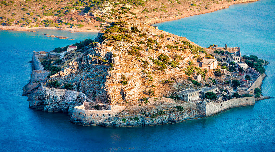 The island of Spinalonga in Greece