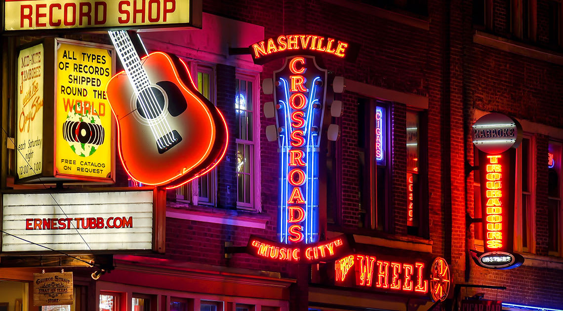 Street in Nashville Tennessee