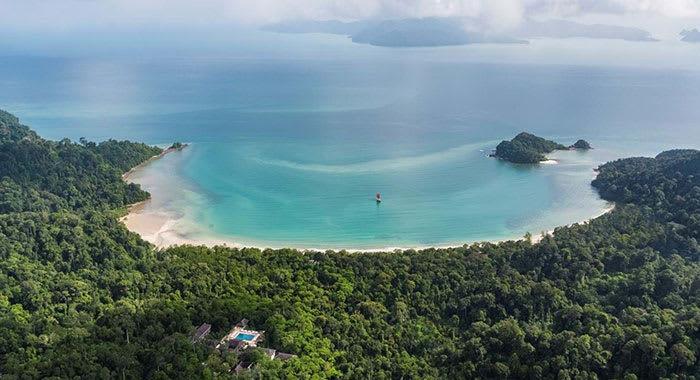 Datai Bay from above