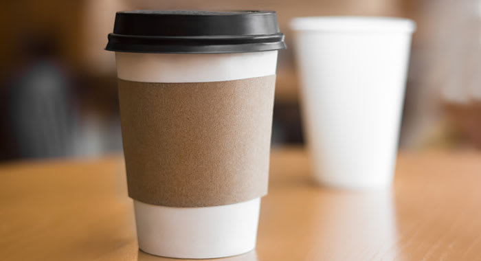 Takeout paper coffee cup