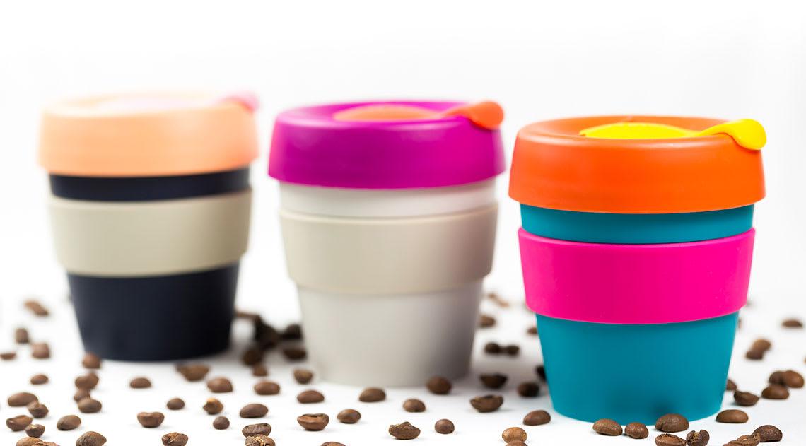 Coloured keep mugs