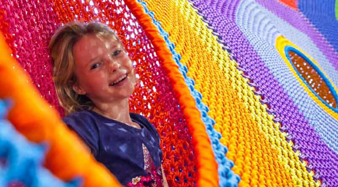 Giant multicoloured net