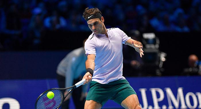 Roger Federer playing tennis