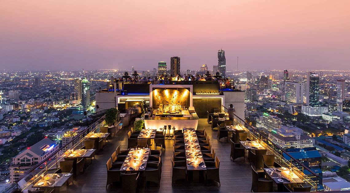 The Banyan Tree rooftop bar