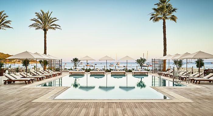 Swimming pool at Nobu Hotel Ibiza Bay