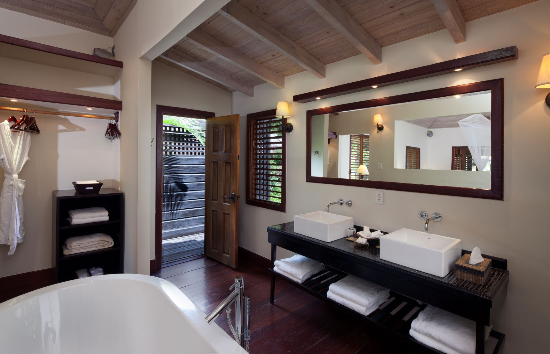 Beachfront and Garden Bathroom