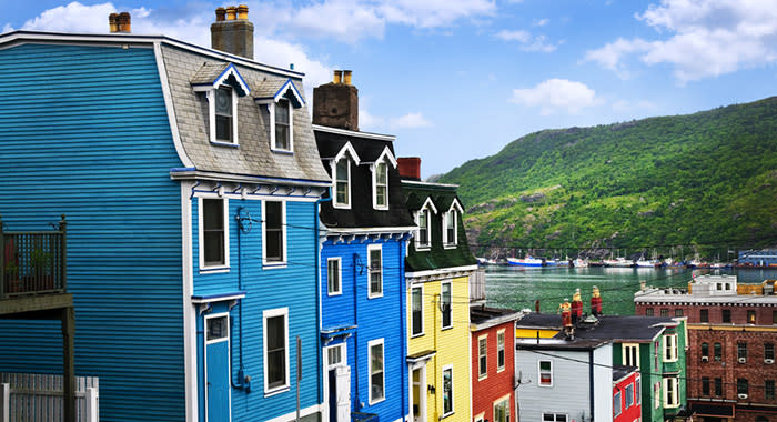 Colourful buildings in Newfoundland