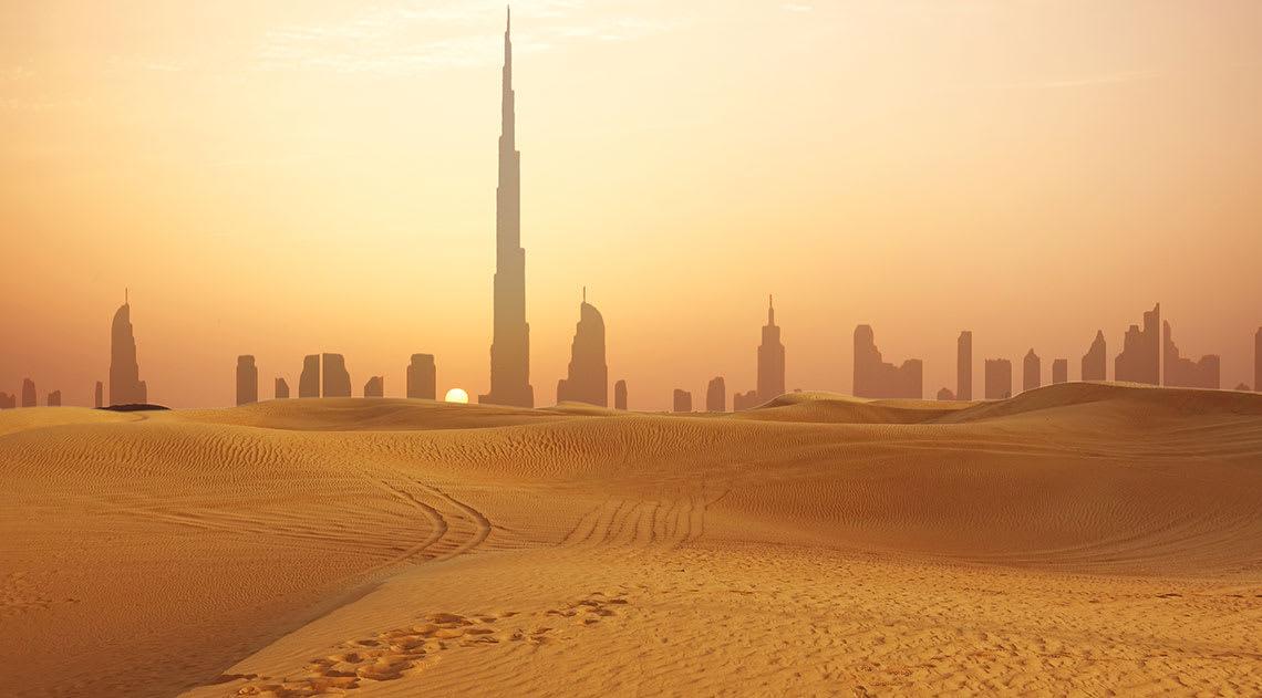 The desert of Dubai