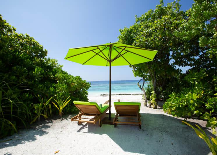 Beach Villa sunbeds