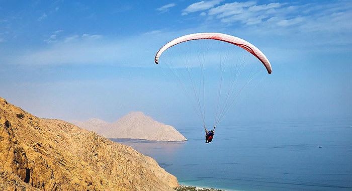 Paragliding at Zighy Bay