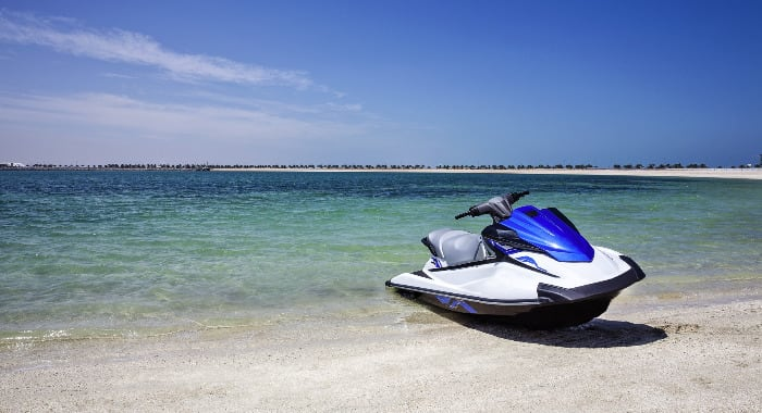 A jet ski on the beach