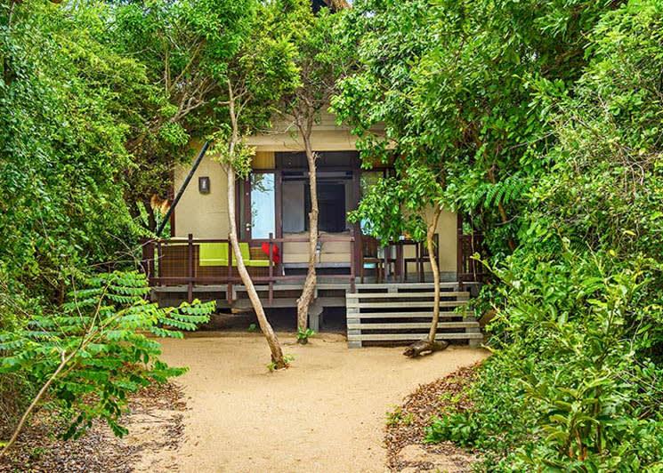 Beach cabin exterior