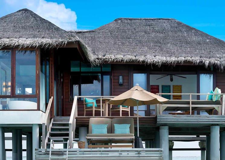 Overwater bungalow exterior