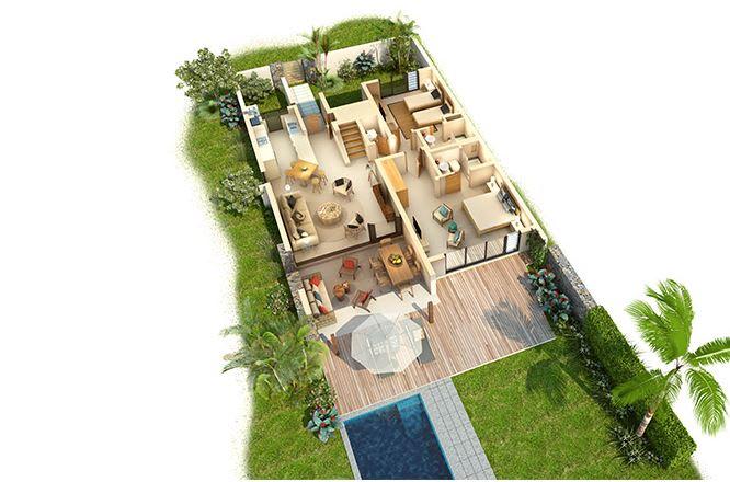 2 Bedroom Deluxe Villa floorplan