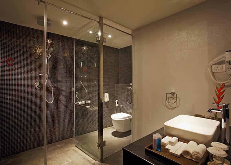 Family residence shower