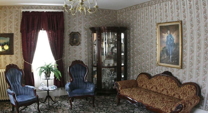 The parlour of Lizzie Borden's house
