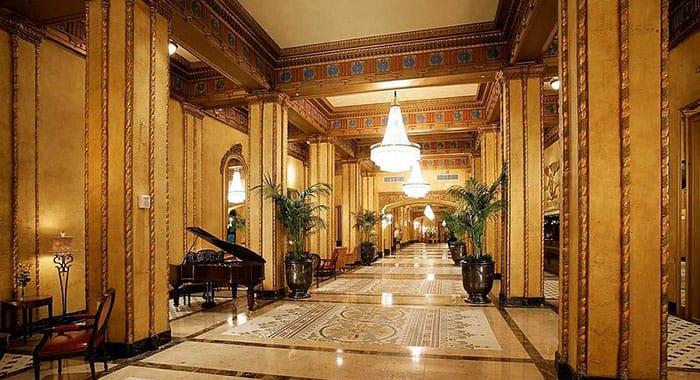 The Hotel Roosevelt corridor