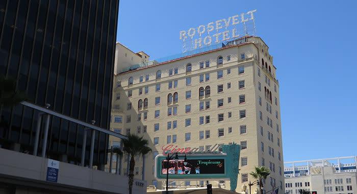 Exterior of Roosevelt hotel