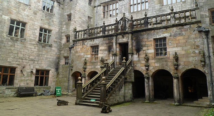 The courtyard of Chillingham Castle